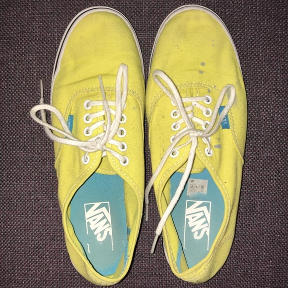 Vans Shoes   Bright Yellow With A Blue